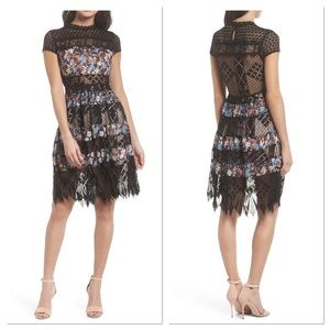 Foxiedox Adriana Lace Panel Dress